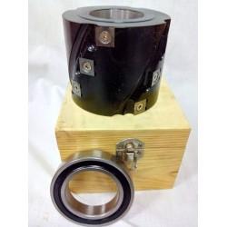 Portacuchillas helicoidal de duraluminio para eje de tupi