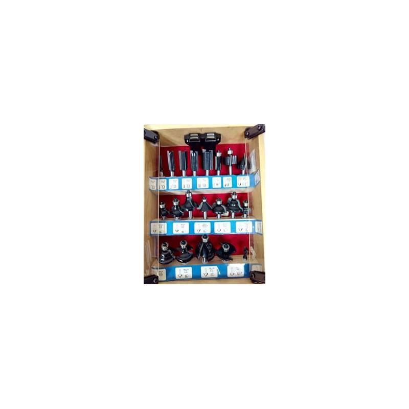 Conjunto de fresas variadas para fresadora portatil