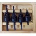 Avellanadores de carburo de tungsteno y broca central en hss para taladros portátiles