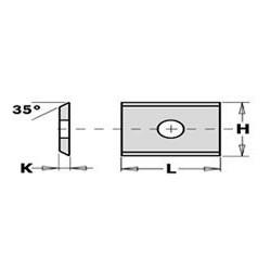 Medidas Cuchillas de md integral reversibles 9,60*12*1,5