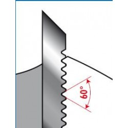 Portacuchillas de perfilar con cuchillas estriadas corrugadas