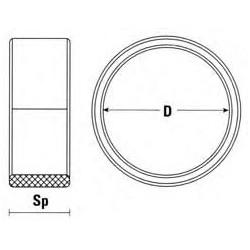 Anillos de separación para colocar entre las fresas para el retestado de aluminio y pvc