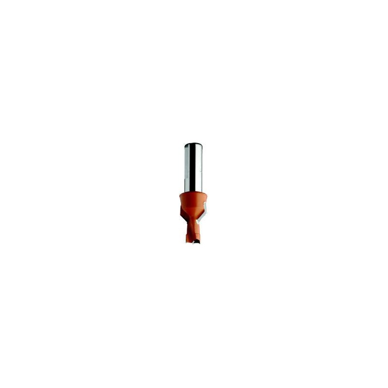 Broca con avellanador para agujero ciego y conexión rápida en taladros y cnc largo 70 mm