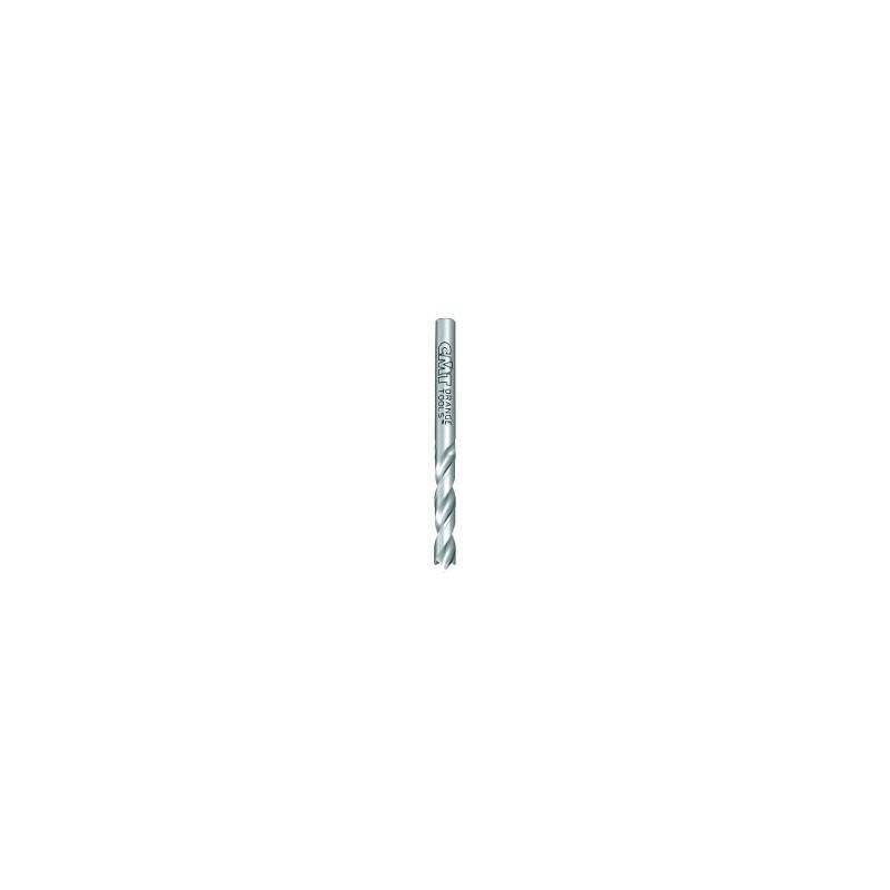 Broca helicoidal para agujero ciego con punta de centraje y precortadores, para realizar taladros de diámetro pequeño