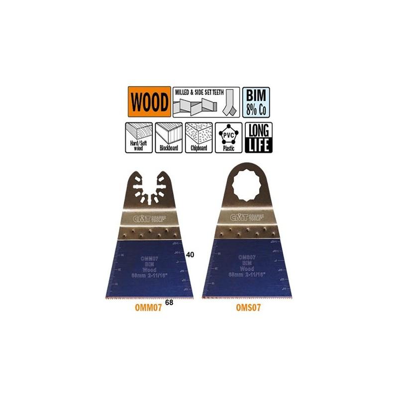 68 mm Hoja de sierra de precisión para madera con dientes de cobalto al 8%