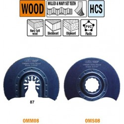 Sierra de corte radial con dientes para madera de 87 mm de ancho