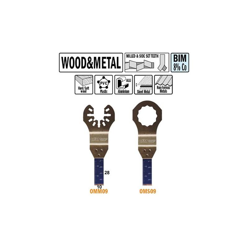 10 mm Hoja de sierra de inmersion y perfilado para maderas y metales