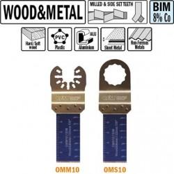 Hoja de sierra 22 mm de inmersión y perfilado para maderas y metales