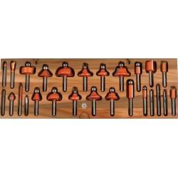 Conjunto de fresas multiperfil para trabajar madera en fresadoras
