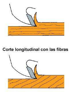 Corte longitudinal con las fibras