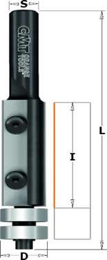 Fresa con cuchillas metal duro integral reversibles para refundir con doble rodamiento