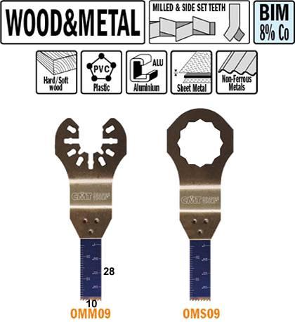 Hoja de sierra de inmersion y perfilado para maderas y metales de 10 mm