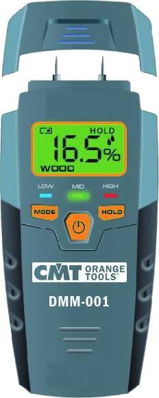 El sistema DMM-001 que mide el porcentaje de la humedad en los materiales utilizando dos agujas que calculan la resistividad eléctrica.