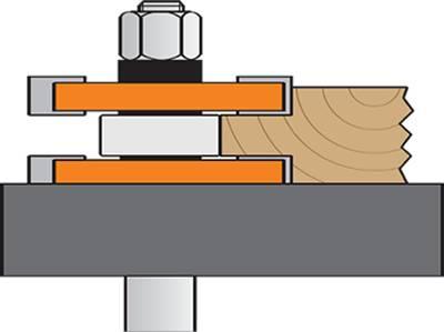 Ejemplo de trabajo para realizar el perfil del macho,la fresa va montada sobre un portaherramienta