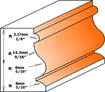 Moldura de madera o tablero dmf con perfiles uniformes de radios y pintos