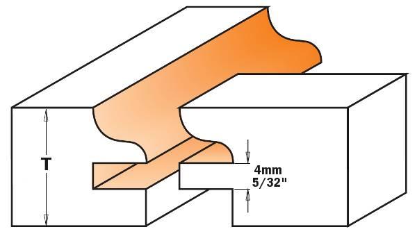 fresas para realizar trabajos en maderas o tableros desde 11mm hasta 17,4mm de espesor y construya puertas desde 70mm