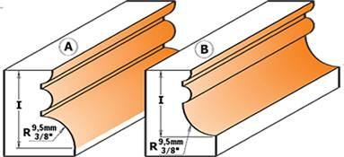 Con estas herramientas de corte para trabajar la madera podrá realizar una amplia gama de molduras simples y complejas