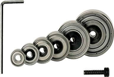Conjunto de rodamientos,tornillo y llave allen para incorporar a la fresa para realizar rebajes sobre tableros o maderas duras o nobles