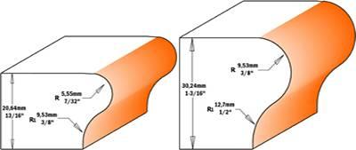 Fresa diseñada y configurada para mecanizar los bordes de umbrales de una ventana