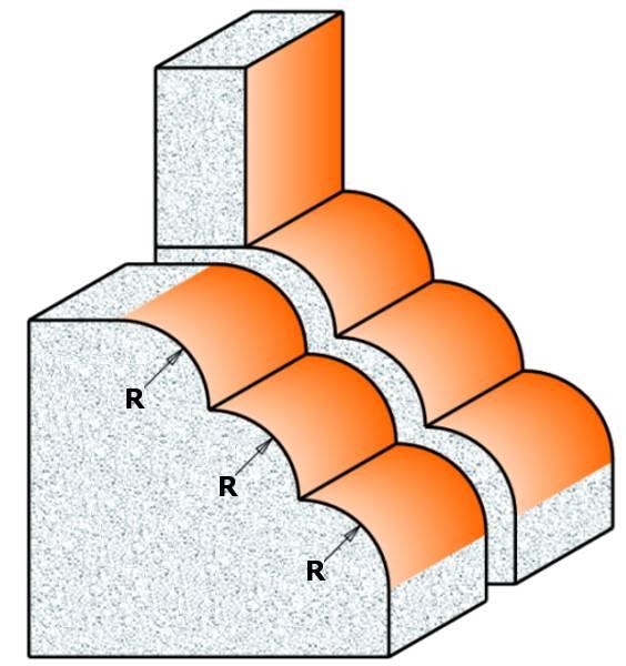 Fresa para trabajar materiales compuestos como,Wilsonart®,Gibraltar®,Corian®, Surell®,Fountainhead®,Avonite®,Formica®