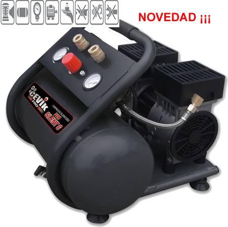 Compresor silencioso de aire sin mantenimiento,no hace ruido solo 62 db