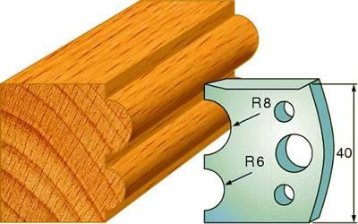 Cuchillas y contracuchillas para la madera