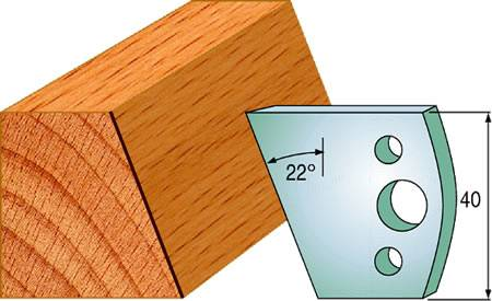 Cuchillas y contracuchillas para biselar y chaflanar madera ref:690.001