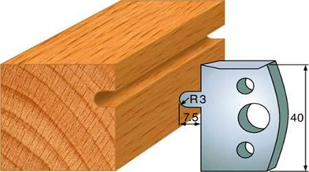 Cuchillas para madera que realiza ranuras semi-redondeadas para columnas o molduras de madera