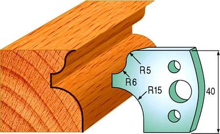 Cuchillas para realizar perfiles redondeados para embellecer sus molduras de madera maciza