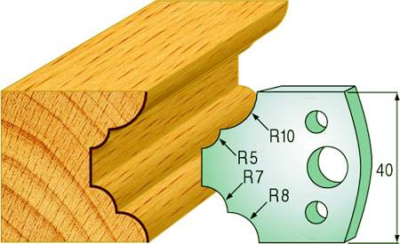 Cuchillas para la realizacion de cornisas en madera