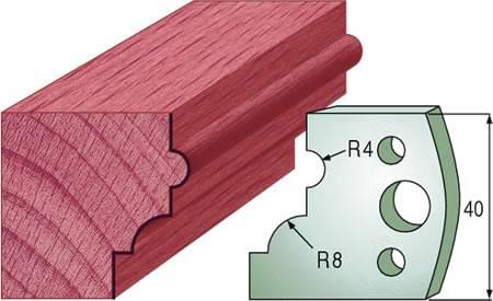 Cuchillas para realizar molduras con perfil talon o cima reversa en maderas