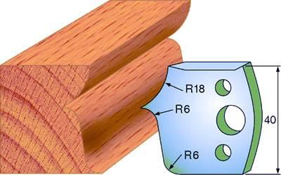 Cuchillas para molduras de madera para muebles