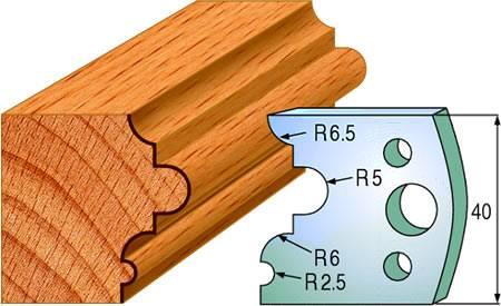 Cuchillas para madera que realizan junquillos