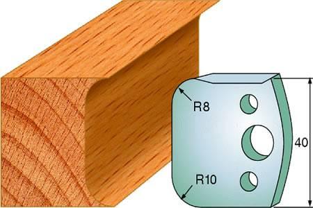 Cuchillas y contracuchillas para madera de radio 8 y 10 convexo