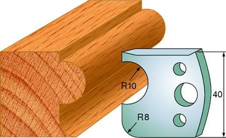 Cuchillas y contracuchillas para maderas duras y blandas, no se aconseja utilizar sobre tableros de mdf o aglomerados