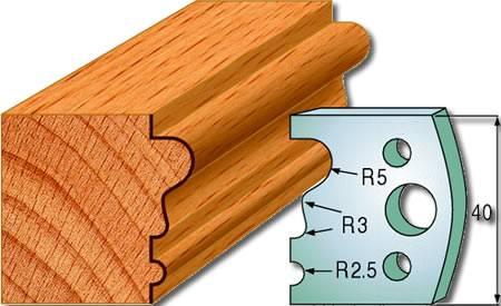 Cuchillas y contracuchillas para maderamen