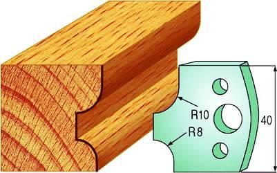 Cuchillas de acero para redondear madera