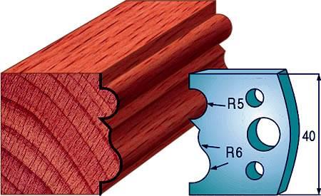 Cuchillas para fabricar rodapies en maderas blandas y semiduras