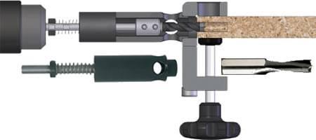 Adaptadores de brocas para madera CMT400-1/2
