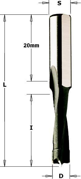 Broca helicoidal para maquina Mafell DD40 y fresadoras