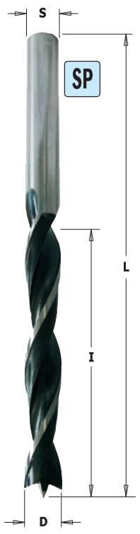 Broca para madera helicoidal de calida SP de 3 puntas