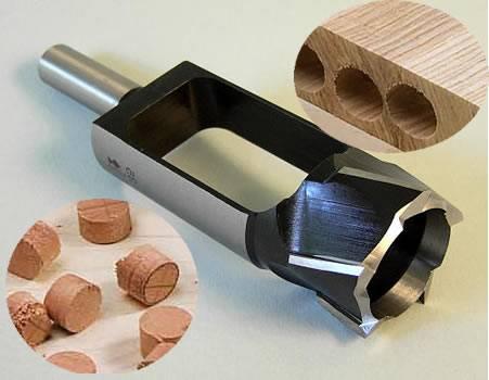Brocas de acero SP para fabricar tapones y espigas de madera