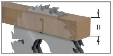 Altura de corte sierras circulares para madera referencia 280