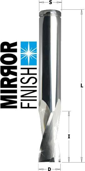 Fresa para cortar y fresar perfiles de aluminio y pvc de 2 cortes y helice positiva
