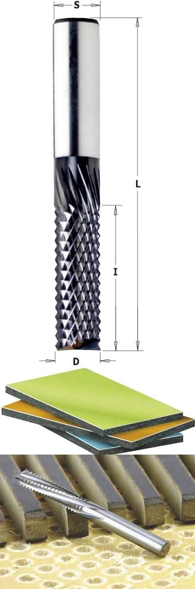Fresas helicoidales para fibra de vidrio y materiales compuestos