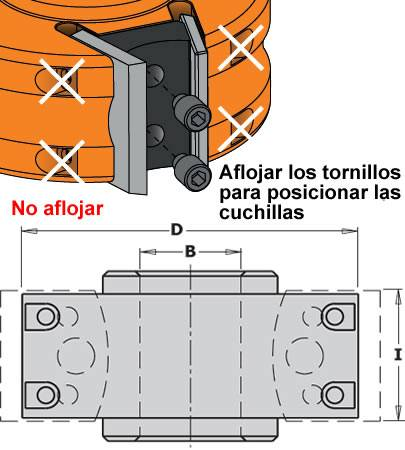 Cabezal con contracuchillas para trabajar en tupis o combinadas para avance manual