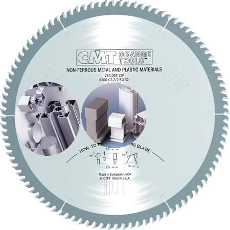 Sierra circular para corte de materiales plasticos y metales no ferrosos