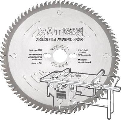 sierra circular para melamina y laminados en escuadradoras y sierras de mesa