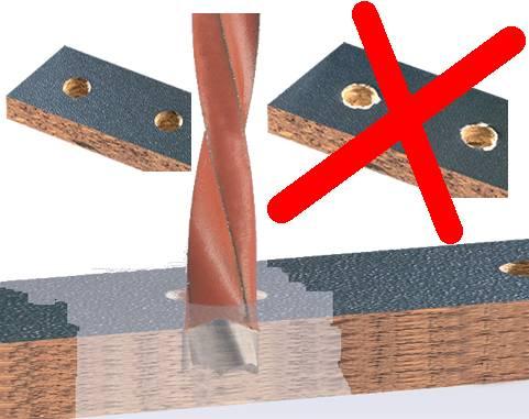 Brocas de widia para maderas duras y tableros laminados