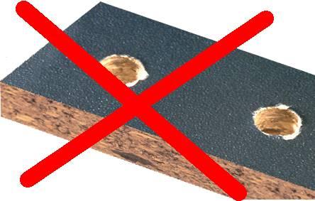 El problema del astillado no lo tendra con esta brocas para madera